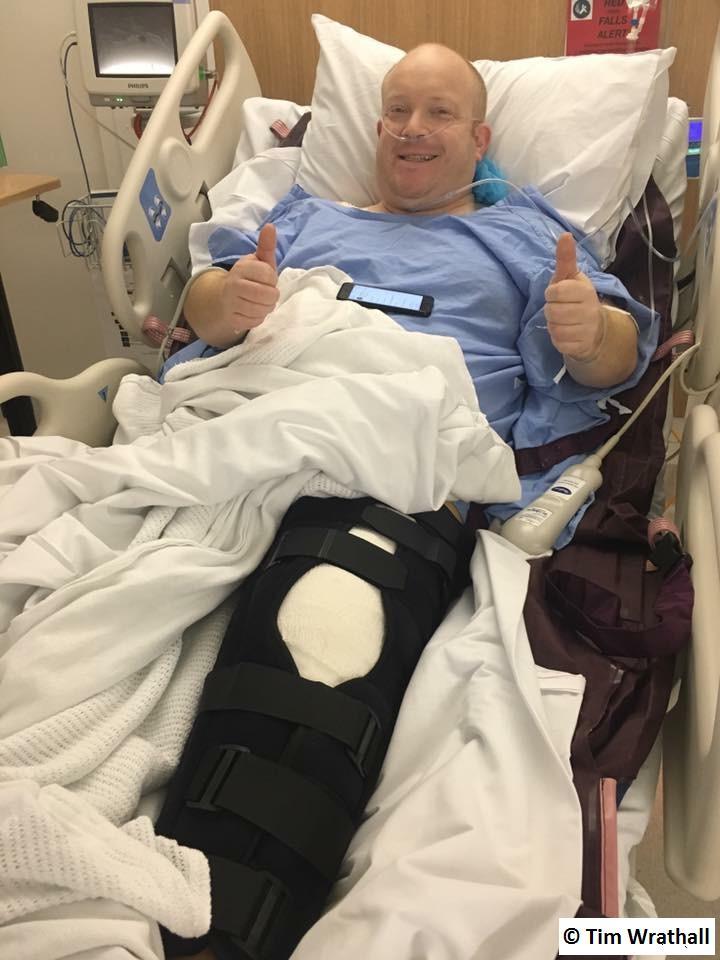 Tim - post knee surgery